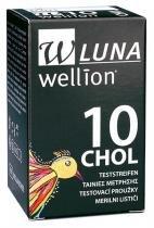 Tiras Reagentes para Teste de Colesterol Caixa com 10 - Wellion Luna