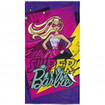 Toalha Aveludada Transfer Barbie Super Princesa - Lepper - Barbie - Lepper