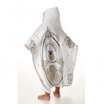 Toalha de banho infantil menino com capuz estampa lauren 70cm x 90cm - Tecebem