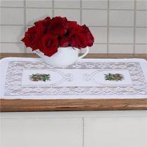 Toalha de Centro de Mesa 50cm x 30cm Suzi Branco - Vilela - Vilela Enxovais