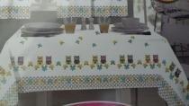 Toalha de mesa 1,45x1,40m coruja - Sultan