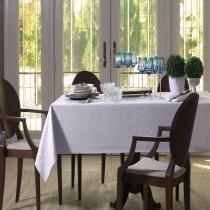 Toalha de Mesa Ambroisie Branco - Quadrada 8 Lugares - 220X220cm - Celebration - Karsten -