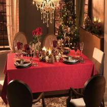 Toalha de Mesa Classic - Retangular 6 Lugares - 100 Algodão - Natal - Karsten -