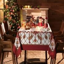 Toalha de Mesa Decoração de Natal - Retangular 8 Lugares - 100 Algodão - Natal - Karsten -