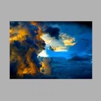 Toalha de mesa decorativa, criativa, colorida e descolada  Nuvens  tamanho 1,40 x 2,00 m - Colours  creative photo decor