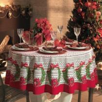 Toalha de Mesa Então é Natal - Retangular 8 Lugares - 100 Algodão - Natal - Karsten -