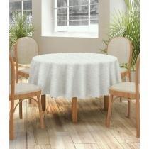 Toalha de mesa jacquard neo classico folhas 160x270 bege - camesa - Camesa