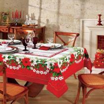 Toalha de Mesa Natal 66 - Redonda 4 Lugares - 100 Algodão - Genebra - Dohler - N/A -