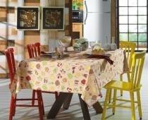 Toalha de Mesa Pasta - Quadrada 4 Lugares - 100 Algodão - Cada Dia - Karsten -