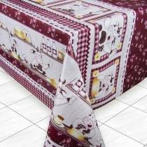 Toalha de Mesa Plástica Térmica Quadrada 4 Lugares Vaquinhas 140 x 140cm - Izaltex -