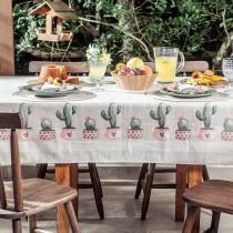 Toalha de Mesa Quadrada 1,40x1,40m Lepper Cactus -