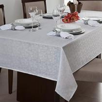 Toalha de mesa quadrada  1,40x1,40m limpa facil - Cinza claro - Branyl