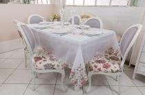 Toalha de mesa - Quadrada - Jardim - 220 cm x 220 cm - Argivai