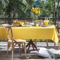 Toalha de Mesa Quadrada Tropical Mango 8p 180x180 cm - Karsten - Bege - Karsten
