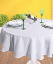 Toalha de mesa Requinte Redonda em Jacquard 160cm  Dohler - TJ 3910 - Dohler