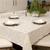 Toalha de mesa Retangular 180x270  Impermeavel Angora Bege - Pietra