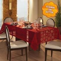 Toalha de Mesa Retangular 8 Lugares Natal Renda Vermelha 2017 - Lepper