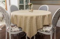 Toalha de mesa - Retangular - Arabesco Bege - 170 cm x 270 cm - Argivai