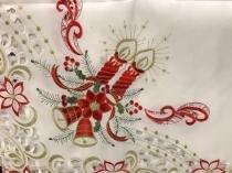 Toalha de Mesa Retangular Natal Mehndi -