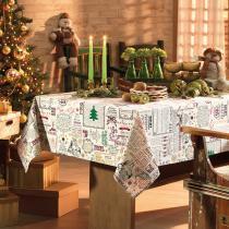 Toalha de Mesa Retangular Natal Vintage 8p 140x250 cm - Karsten - Natal - Karsten