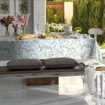 Toalha de Mesa Retangular Sempre Limpa Gaya 6p 160x220 cm - Karsten - Branco - Karsten