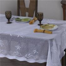 Toalha de Mesa Suzi 1,60m x 1,60m 01 Peça - Branco - Vilela Enxovais