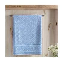 Toalha de Rosto Felpudo Liso Jacquard Confort Azul Claro Dohler - 50x90 - Dohler