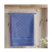 Toalha de Rosto Felpudo Liso Jacquard Confort Azul Escuro Dohler - 50x90 - Dohler