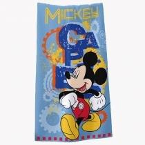 Toalha Estampada Banho Disney Light 100 Algodão Mickey Club Azul - Santista - Azul - Santista