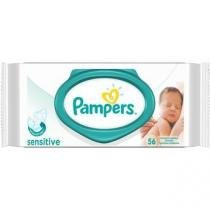Toalhas umedecidas pampers sensitive c/56 -