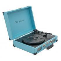 Toca-Discos Vinil Retrô Tennessee Azul 40.262 Classic -
