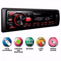 Toca Mp3 Player Pioneer Mvh 88ub Usb Frontal Rca Radio Carro - Auto Mais