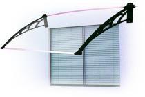 Toldo versátil para portas, janelas e ar-condicionado de 0,8x0,62m PT/CR - Artplas
