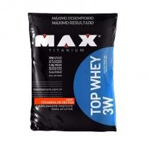 Top whey 3w 1,8kg max titanium vitamina de frutas - proteina -