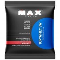 Top Whey 3W - 1 Sachê - Max Titanium - Morango - Max Titanium