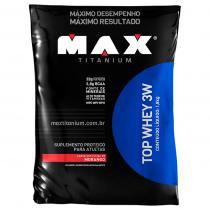 Top Whey 3W 1800g - Max Titanium - Monster Suplementos - Morango -