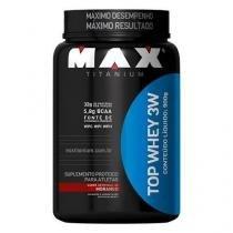 Top Whey 3W  - 900g - Max Titanium - Morango - Max Titanium