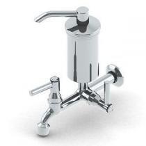 Torneira filtro reta corpo e copo de metal luxo 1/4 v vela pro saude - Delta