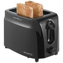 Torradeira Britânia Preta Large Toast - 6 Níveis de Tostagem