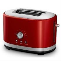 Torradeira Elétrica Kitchenaid Vermelha Aço Inox Artisan KJC42AV 7 Níveis de Tostagem -