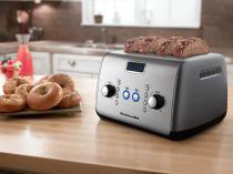 Torradeira KitchenAid Cinza KJC04AFANA - 7 Níveis de Tostagem Função Descongelar