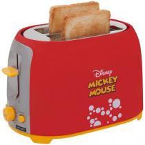 Torradeira Mallory Vermelha Disney Mickey Mouse - 6 Níveis de Tostagem