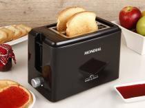Torradeira Mondial Preta Toast Due Black T-05 - 6 Níveis de Tostagem