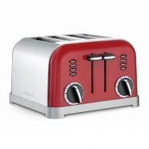 Torradeira para 4 fatias red metalic cuisinart -127v cpt-180mrbr - Cuisinart