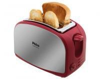 Torradeira Philco Inox e Vermelho French Toast - 8 Níveis de Tostagem com Função Descongelar