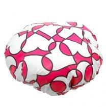 Touca de Banho Corações Rosa - Rosa - Único - Gorila Clube