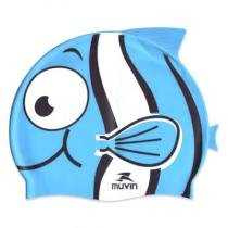 5744e423d Touca de Natação em Silicone Kid - Nemo Azul - Muvin TCS-400 -