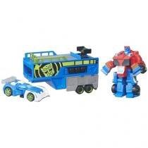 Trailer de Corrida Optimus Prime Transformers Bots - De Resgate Playskool Heroes Hasbro