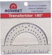 Transferidor Acrilico 180 Graus 551 Acrimet - 1