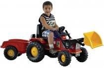 Trator Infantil a Pedal Farmer Big  - com Luzes e Buzina - Biemme